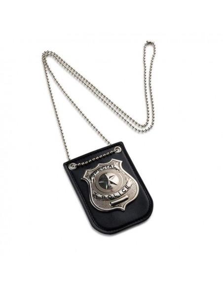 badge de police métal