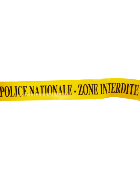 Bande jaune Police Nationale Zone Interdite (au mètre)