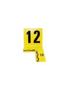 Plot numéroté de repérage d'indice avec équerre (à l'unité)