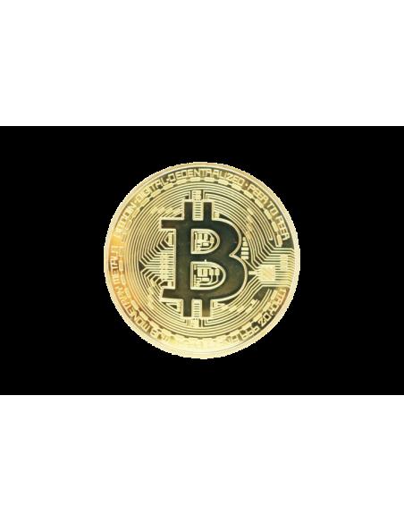Pièce de 1 Bitcoin doré (face)