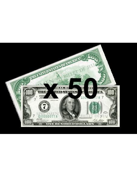 50 Faux billets 100$