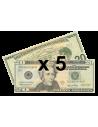 5 faux billets 20$