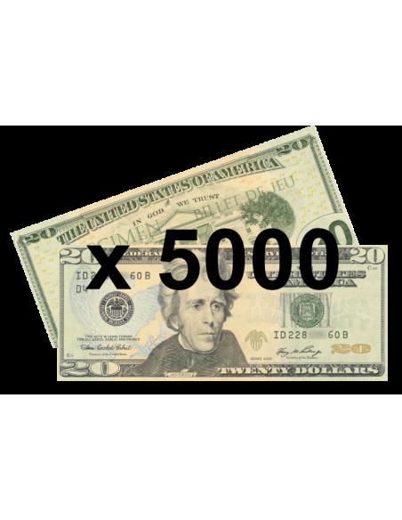 5000 faux billets 20$