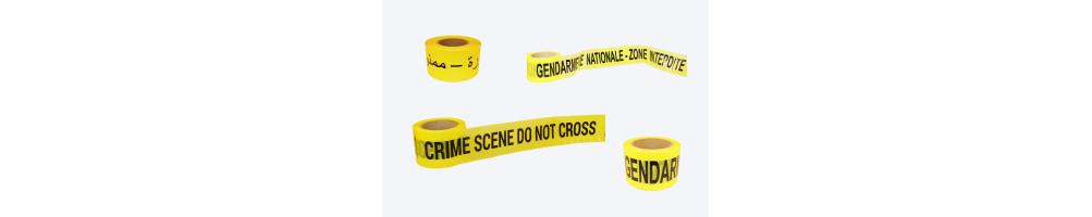 Bandes jaunes de police